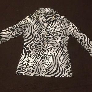 Alfani zebra print blouse.  Medium